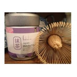 Japan matcha Kagoshima arbata (40g) ir bambukinė šluotelė