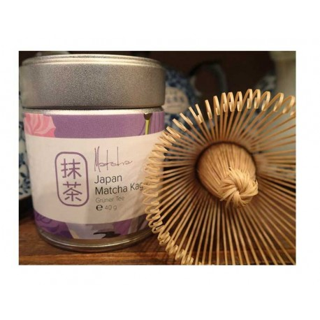 """""""Japan matcha Kagoshima"""" arbata (40g) ir bambukinė šluotelė"""